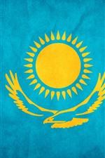 Preview iPhone wallpaper Kazakhstan flag