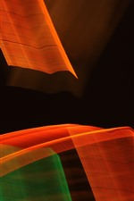 Preview iPhone wallpaper Many abstract stripes, black background