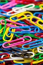 Preview iPhone wallpaper Many colorful paper clips