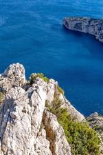 Marseille, rocks, blue sea, France