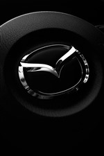 Preview iPhone wallpaper Mazda logo, steering wheel