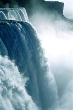 Niagara Waterfall, water splash, fog