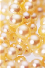 Preview iPhone wallpaper Pearls macro photography, hazy