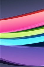 Preview iPhone wallpaper Rainbow colors, abstract curves