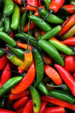Preview iPhone wallpaper Red and green peppers, chilli, not fresh