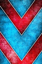 Preview iPhone wallpaper Red obliquely lines, blue background