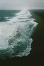 Preview iPhone wallpaper Sea, beach, fog