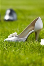 Preview iPhone wallpaper Shoes, grass