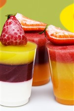 Preview iPhone wallpaper Smoothies, three cups, colorful