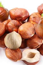 Preview iPhone wallpaper Some chestnut, nuts, white background