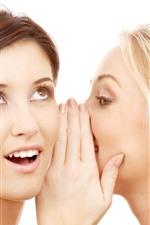 Two girls, secrets, whisper