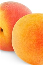 Preview iPhone wallpaper Two peaches, white background