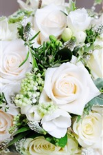 Preview iPhone wallpaper White roses, bouquet, gift