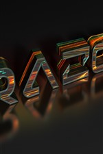 Preview iPhone wallpaper 3D design, words