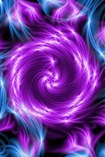 Preview iPhone wallpaper Abstract flower, purple and blue, fractal