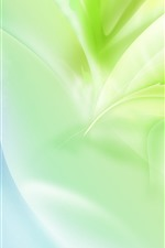 Preview iPhone wallpaper Abstract green leaves, glare, creative