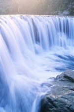 Preview iPhone wallpaper Beautiful waterfalls, stones