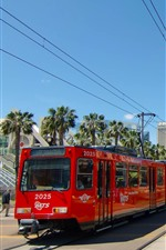 Preview iPhone wallpaper City, tram, track, San Diego, USA