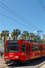 미리보기 iPhone 배경 화면 도시, 전차, 선로, 샌디에이고, 미국