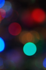 Preview iPhone wallpaper Colorful light circles, night