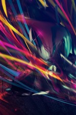 Preview iPhone wallpaper Colorful lines, abstract, creative design