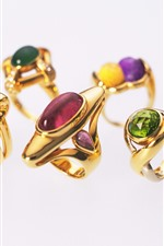 Gold rings, diamond
