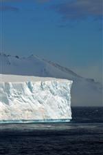 Preview iPhone wallpaper Icebergs, sea, Antarctica