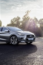 Preview iPhone wallpaper Infiniti Q30S cars, sunshine