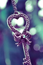 Preview iPhone wallpaper Key, love heart, decoration