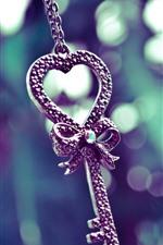 Chave, coração de amor, decoração