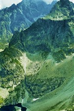 iPhone обои Горы, долина, высота