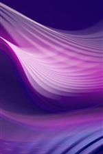 Preview iPhone wallpaper Purple wavy, abstract picture