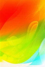 Preview iPhone wallpaper Red and green curves, abstract picture