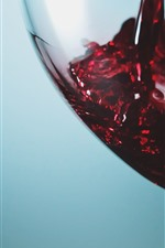 Preview iPhone wallpaper Red wine, glass cup, drinks