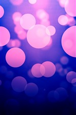 Preview iPhone wallpaper Abstract purple light circles, glare