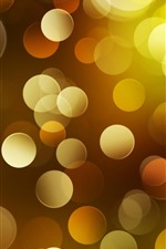 Preview iPhone wallpaper Abstract yellow light circles, bright, shine