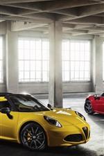 Alfa Romeo red and yellow supercars
