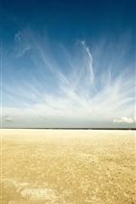 Vorschau des iPhone Hintergrundbilder Strand, Meer, Küste, Wolken, Himmel