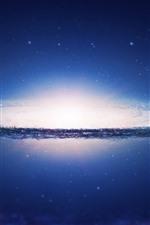 Bela galáxia, universo, estrelas, brilho
