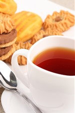 Preview iPhone wallpaper Biscuits, tea, food