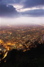 Preview iPhone wallpaper Bogota, Colombia, city night, top view, lights