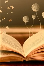 Book, butterfly, flowers, creative picture