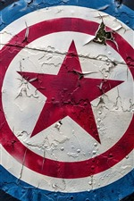Preview iPhone wallpaper Captain America, shield, logo, graffiti