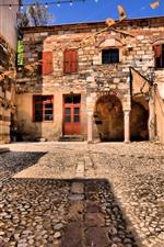 Chios, Grécia, estrada, casas