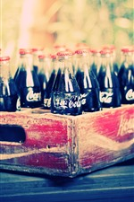Preview iPhone wallpaper Coca-Cola, bottles, drinks, box