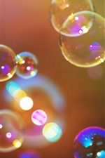 Preview iPhone wallpaper Colorful bubbles