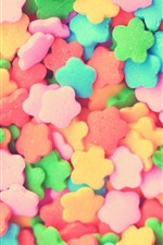 Preview iPhone wallpaper Colorful candy, flowers