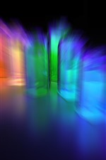 Preview iPhone wallpaper Colorful light rays, abstract, darkness