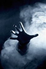 Preview iPhone wallpaper Dark, hand, smoke