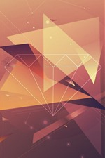 Preview iPhone wallpaper Diamond, lines, creative design